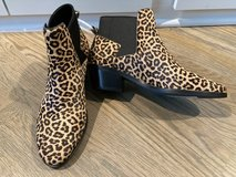 New! Cole Haan Gia Leopard Calf Hair Chelsea Booties Sz 7.5 in Naperville, Illinois