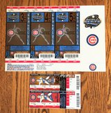 CHICAGO CUBS 2003 PHANTOM TIE BREAKER + DIVISION SERIES + WORLD SERIES TICKETS in Naperville, Illinois