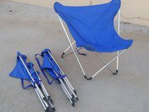 Lightweight French fold up camping chairs in Alamogordo, New Mexico