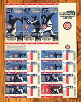 CHICAGO CUBS 2004 PHANTOM PLAYOFF & WORLD SERIES TICKETS - COMPLETE UNCUT SHEET in Naperville, Illinois