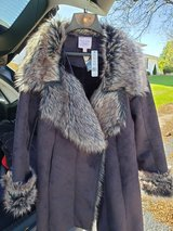 Suede- like fur trimmed beauty!! in Naperville, Illinois