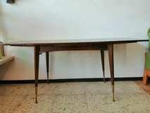 50s 60s Mid Century dining table, kitchen table extendable 106 cm x 64 cm ( 176 x64 cm ) in Wiesbaden, GE