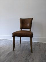 RH (Restoration Hardware) Adele Leather Dining Side Chairs (4) in Beaufort, South Carolina