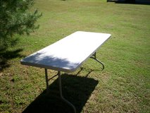 6 foot x 30 inches plasice table with foldup legs in Elizabethtown, Kentucky