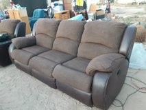 2 Brown Couch recliners matching set in 29 Palms, California