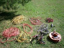 7 extension cords and one light cord and 2 jumper cables in Elizabethtown, Kentucky