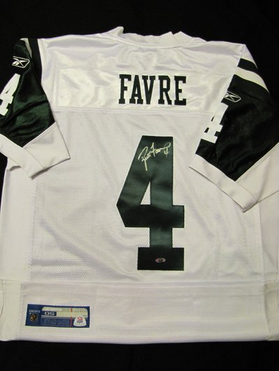 size 40 c3f77 595b6 Brett Favre signed jersey (NY Jets) (Read profile for more ...
