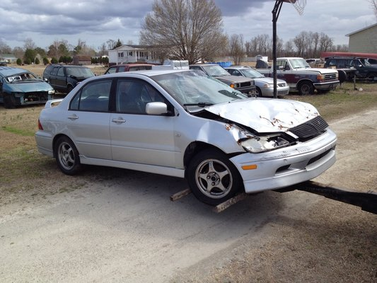 parting out wrecked 2003 mitsubishi lancer in camp lejeune
