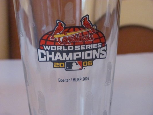 St Louis Cardinals World Series Champions 2006 Glass In Kingwood