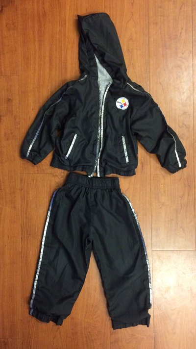 best service f66cc 84388 3T Pittsburgh Steelers hooded jacket and pants | Clothing ...