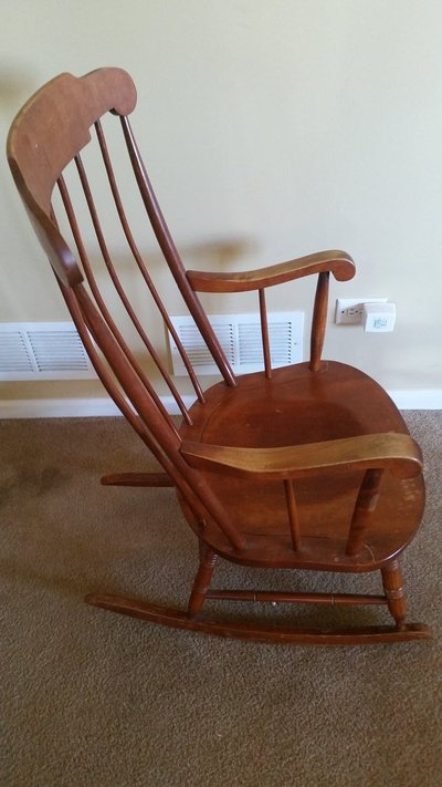 Nichols & Stone 1946-1949 All American - Rocking Chair, Antique - solid wood - Nichols & Stone 1946-1949 All American - Rocking Chair, Antique