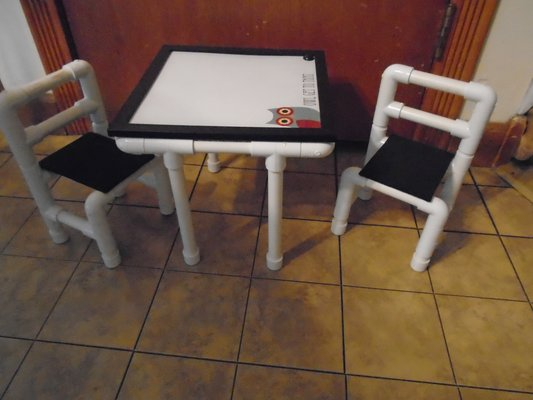 Captivating One Of A Kind Doll Table And Chairs With Dry Erase Table Top In Joliet