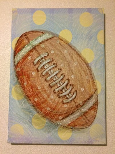 Football Canvas Wall Art, Hobby Lobby | Baby & Kids for sale on Fort ...