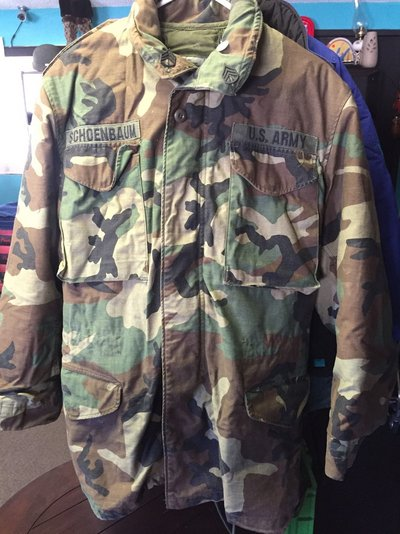 USMC BDU Woodland Camo Cold Weather Field Coat WITH LINER