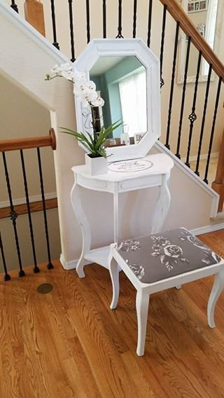 Shabby Chic Landhouse Style Vanity Makeup Table Set