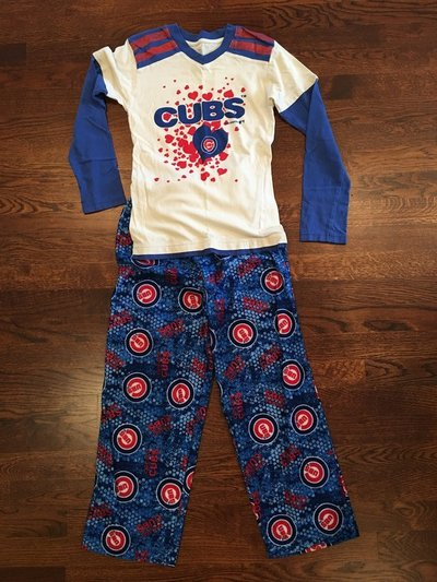 girls cubs pajamas 2 piece size 8 10 clothing kids for sale on