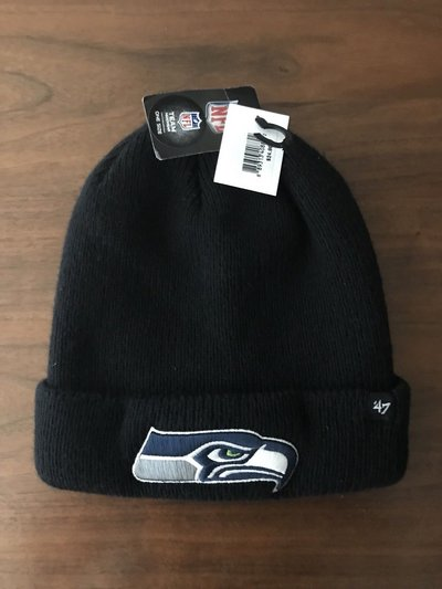 b32ca061a46 SEATTLE SEAHAWKS Cuffed with Embroidered Logo Beanie Hat (47  Logo ...