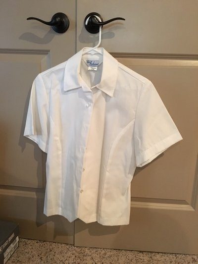 Womens Usaf Size 8mr Semi Formal White Blouse Military Stuff For