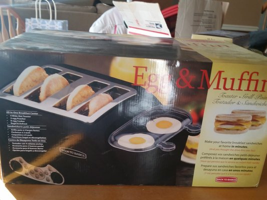 Back To Basics Egg Muffin Toaster Nib Appliances For Sale On