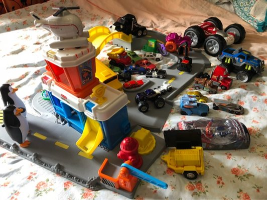 Little People Garage : Vintage fisher price little people garage piece lot with box