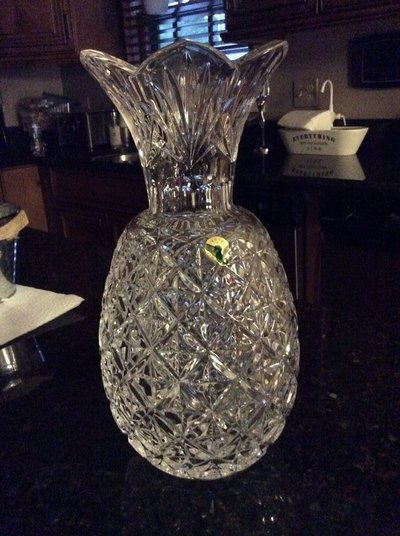 New 12 Waterford Pineapple Crystal Vase Retail 45000