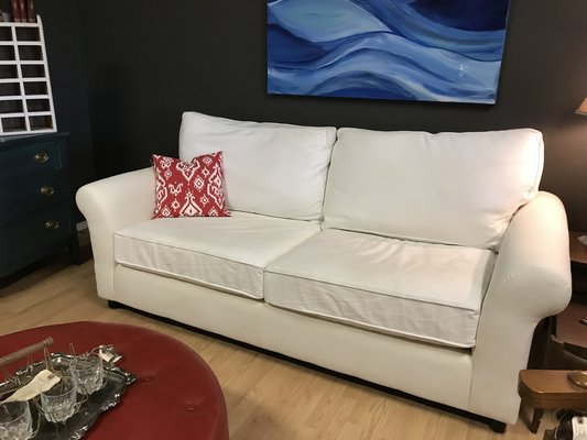 Remarkable Pottery Barn Sofa Couch Loveseat Roll Arm Excellent Ocoug Best Dining Table And Chair Ideas Images Ocougorg