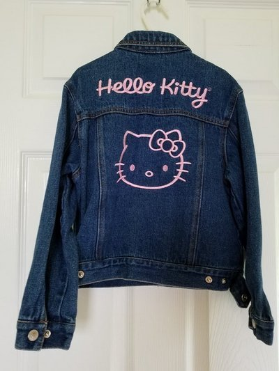 2f0615477 Hello Kitty Embroidered Jean Jacket, Girls 6X | Clothing: Kids for ...
