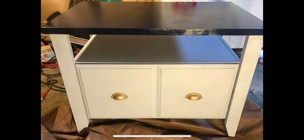 MEDIA STAND W/FILING CABINET IN BOTTOM | Furniture: Home   By Owner For  Sale On Fort Benning Bookoo!