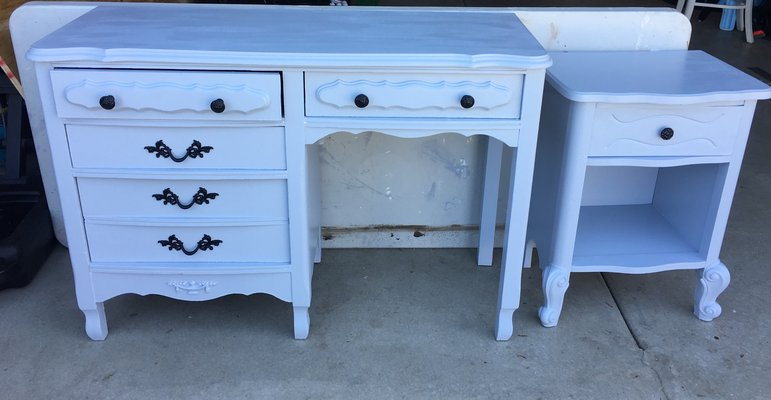 Beau French Provincial Desk And Nightstand In Camp Pendleton