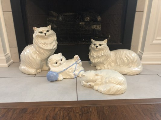 Ceramic Cat Set Home Decor For Sale On Fort Campbell Bookoo