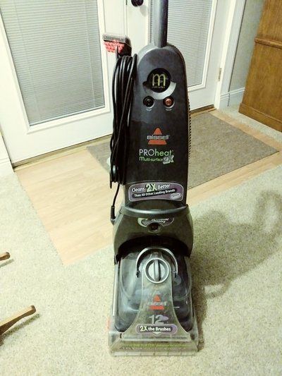 Bissell 2x Upright Carpet Cleaner With Upholstery Attachments
