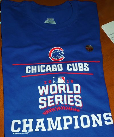 new products 54d4a ea46a New Official Chicago Cubs 2016 World Series Champions Tee ...