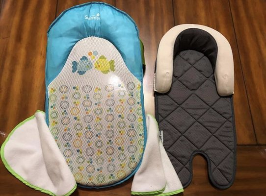 bd0fa4d8a26 Summer Infant Bath Sling With Warming Wings 1 Set and Goldbug Air Flow Baby  Head   Body Support.
