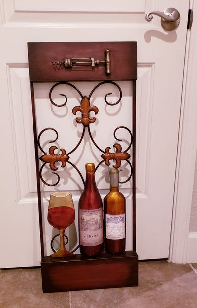 Metal Wall Art Wine Decor Home For On Travis