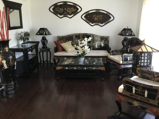 Asian Living Room Set | Furniture: Home - by owner for sale ...