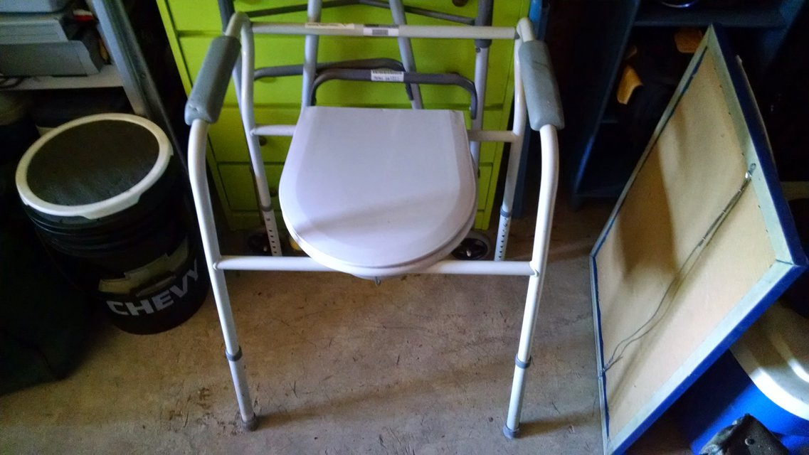 Portable toilet and Walker