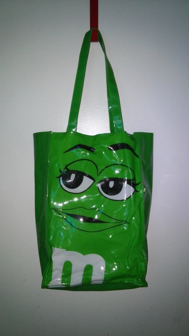 Www Trucks For Sale >> Green M&M vinyl tote bag | Purses for sale on Kingwood bookoo!
