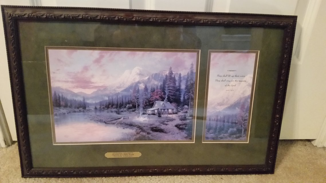 CLEARANCE Thomas Kinkade Accent Print Evening Majesty Beginning Of A ...
