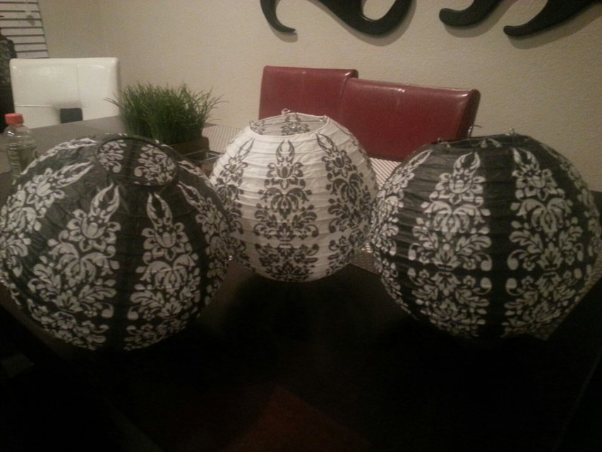3pc Paper Lanterns Home Decor For Sale On Kingwood Bookoo