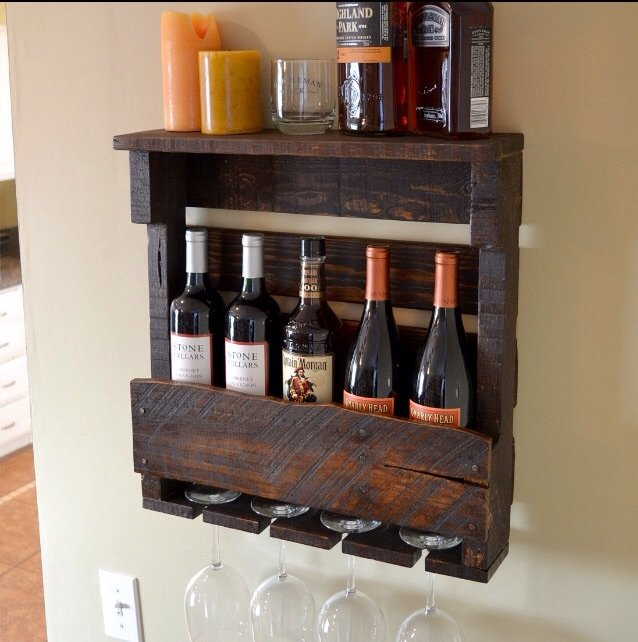Pallet wood wine rack table bar farm | Furniture: Home - by owner for sale on Lejeune bookoo!