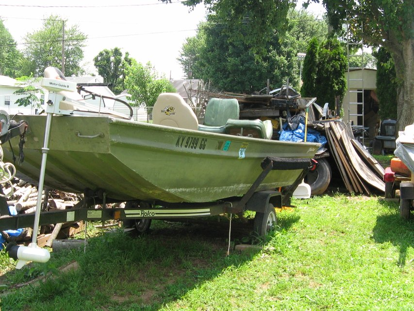 15.5 FLAT BOTTOM FISHING BOAT (ALUMINUM) by; POLAR KRAFT ...