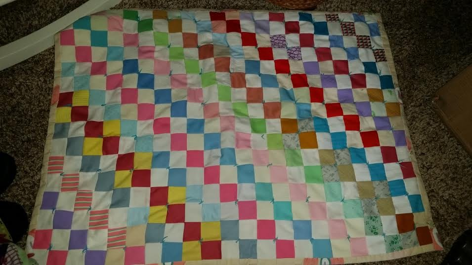 Infant Hand Sewn Patch Work Quilt