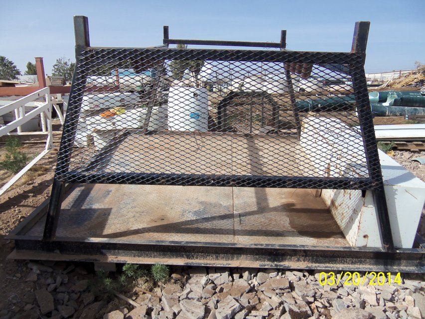 Diamond Plate Flat Truck Bed with Headache Rack u0026 Tool box in Alamogordo : diamond plate headache rack - pezcame.com