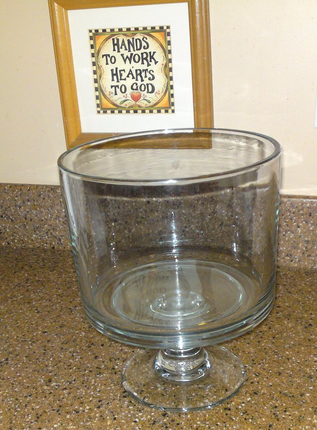 Pampered Chef TRIFLE BOWL w/SELF STORING Pedestal - GLASS 2832 ...