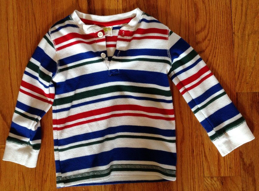 Baby toddler boys crazy 8 long sleeve striped shirt red for Red blue striped shirt