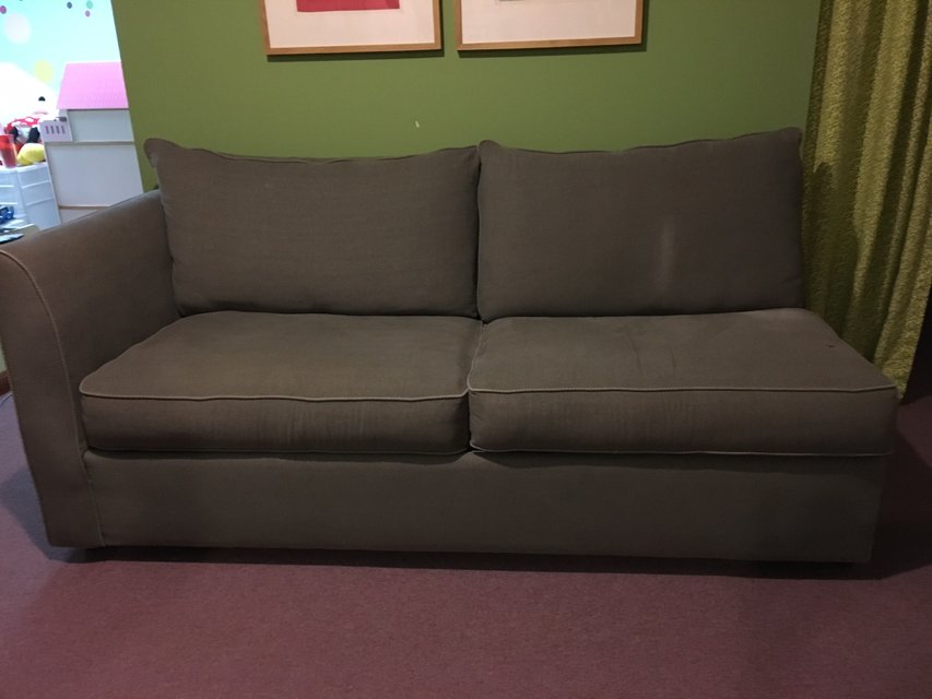 Sage Green Queen Size Sleeper Sofa with Sealy Mattress