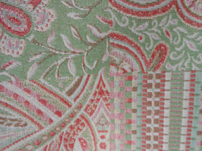 Upholstery fabric green multi arts crafts for sale for Upholstery fabric for sale