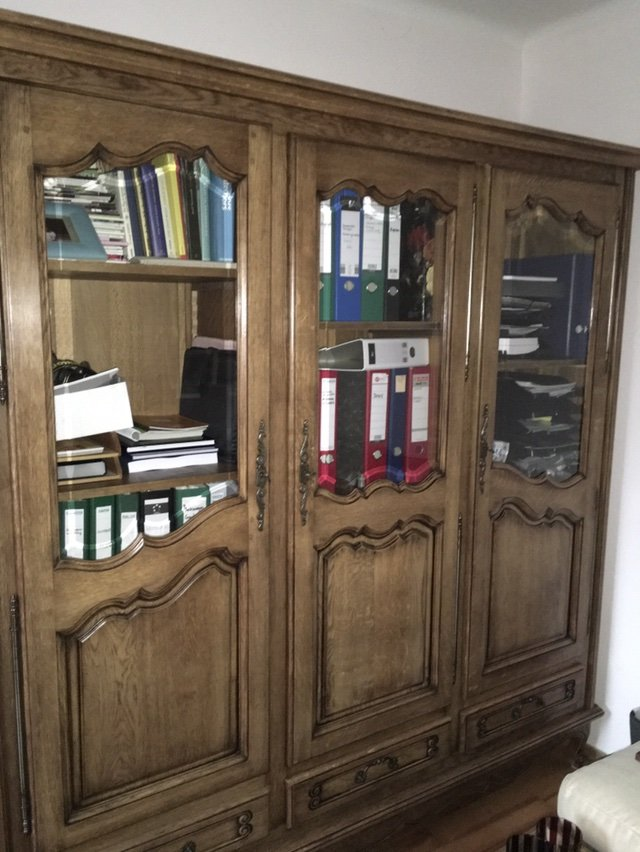 antique solid wood bookcase bibliotheque from france antiques by dealer for sale on. Black Bedroom Furniture Sets. Home Design Ideas