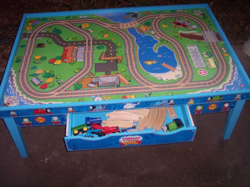 Learning Curve Thomas and Friends Wooden Railway Grow-With-Me Play Table w/ train $300+ New | Toys \u0026 Games for sale on Holloman bookoo! & Learning Curve Thomas and Friends Wooden Railway Grow-With-Me Play ...