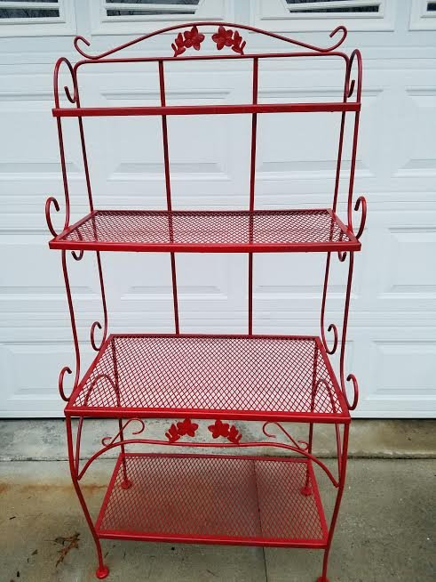wrought iron indoor furniture. Red / Wrought Iron Indoor Outdoor Microwave Bakers Rack In Fort Campbell Furniture